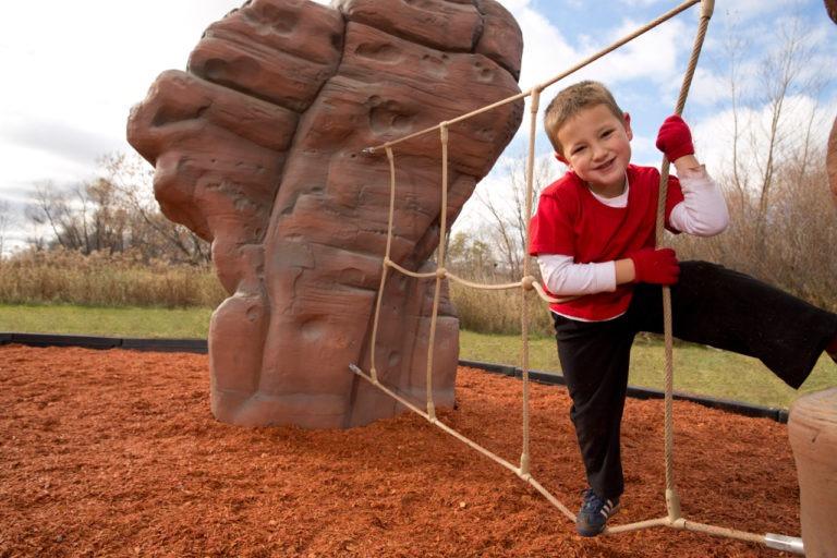 playground climbing boulder with net sierra nevada 2