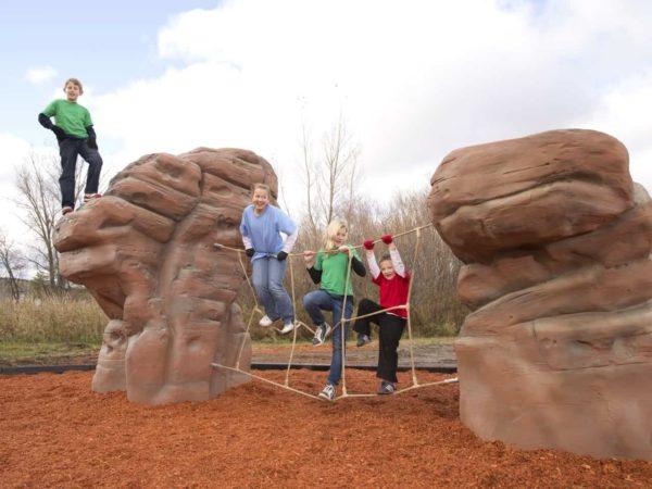 playground climbing boulder with net sierra nevada 3
