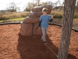 playground climbing boulder with nets mount hayden 1