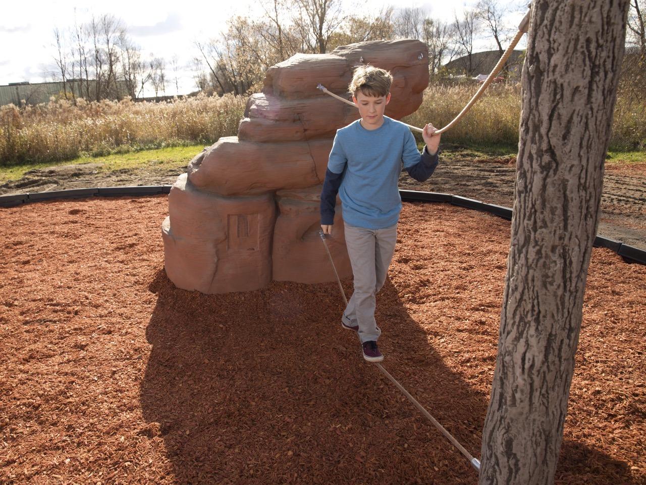 playground climbing boulder with nets mount hayden 1