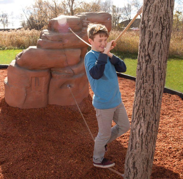 playground climbing boulder with nets mount hayden 2