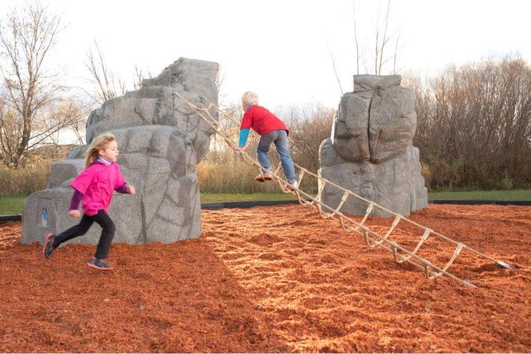 playground climbing boulder with nets mount mckinley