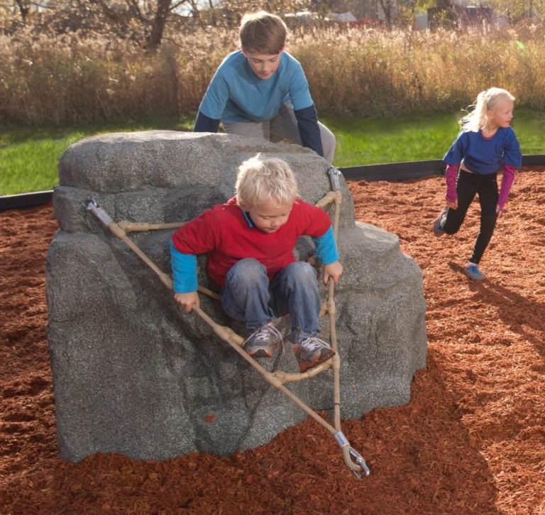 playground climbing boulder with nets pikes peak