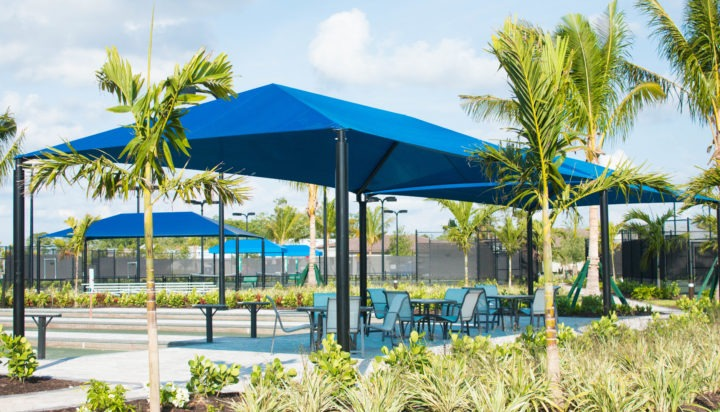 community hoa amenities center clubhouse shade structures 2 1
