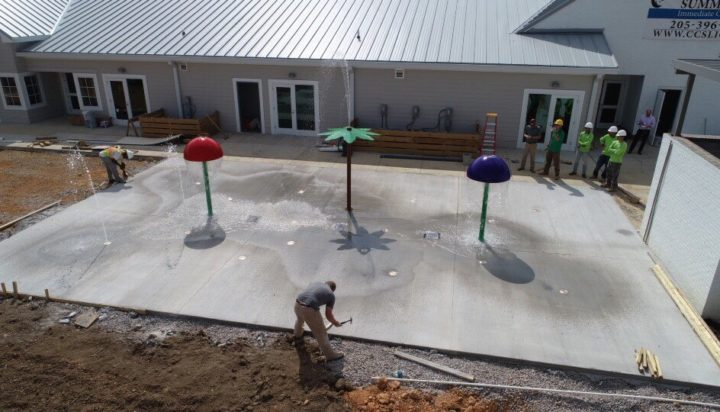 birmingham alabama daycare playground with shades and poured in place rubber safety surfacing 21