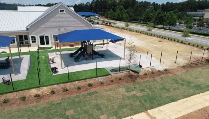 birmingham alabama daycare playground with shades and poured in place rubber safety surfacing 39