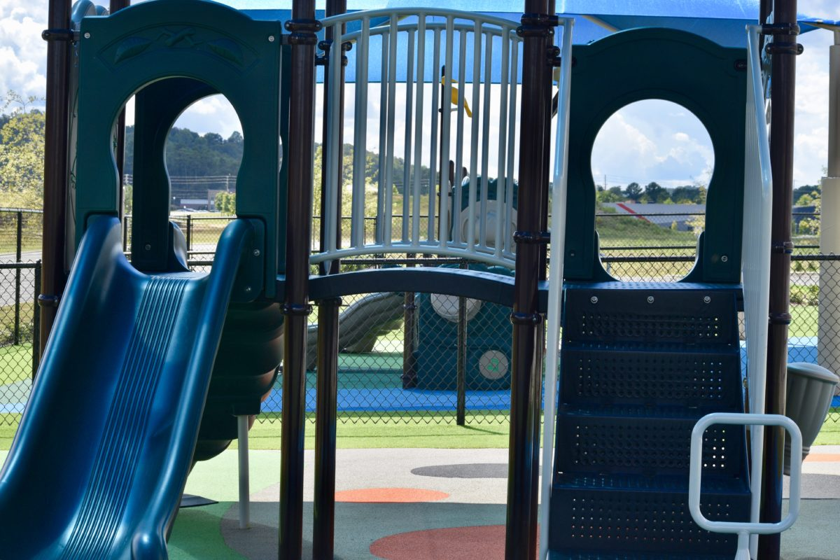 birmingham alabama daycare playground with shades and poured in place rubber safety surfacing 52