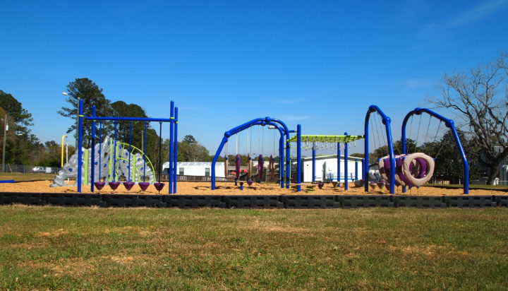 tallahassee elementary school playground with shade covering 18