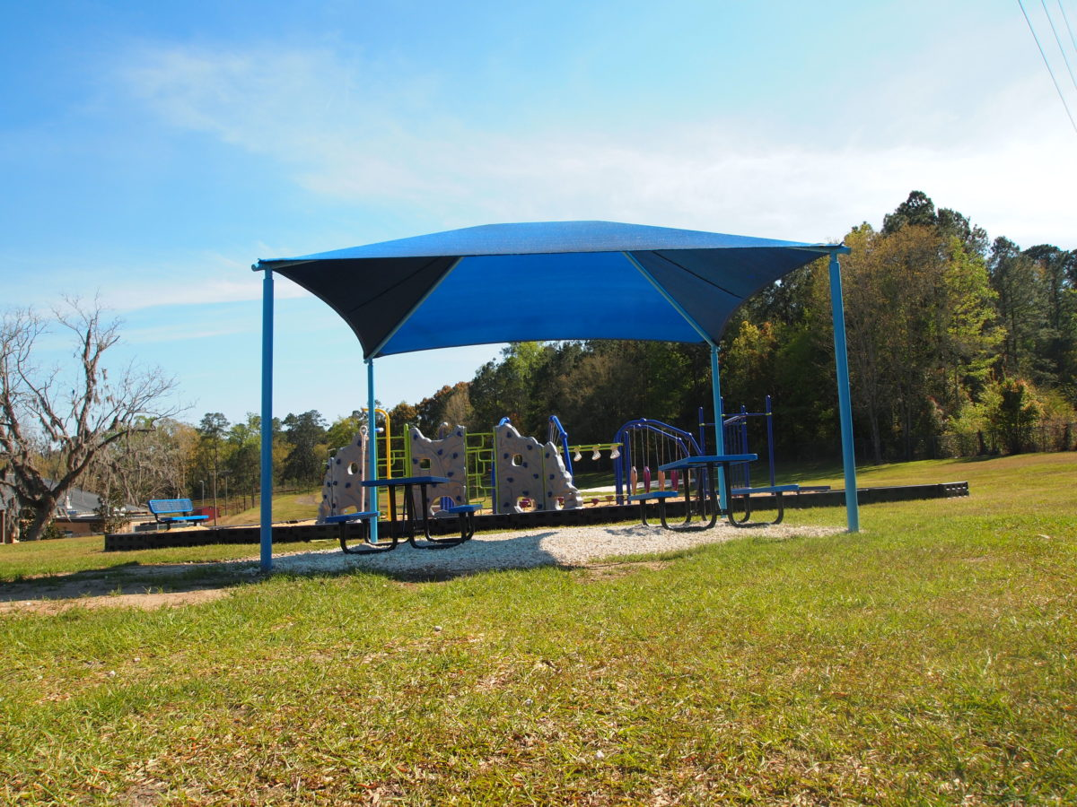 tallahassee elementary school playground with shade covering 26