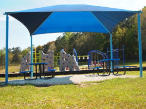tallahassee elementary school playground with shade covering 27