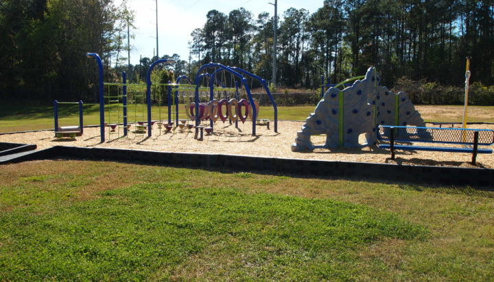 tallahassee elementary school playground with shade covering 30