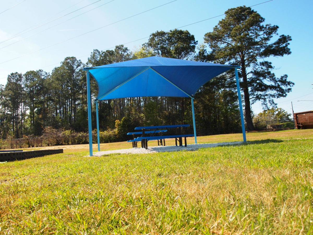 tallahassee elementary school playground with shade covering 33