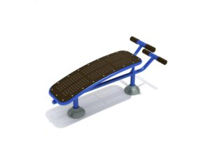 outdoor fitness and exercise equipment single station sit up bench