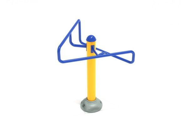 outdoor fitness equipment double station streching post