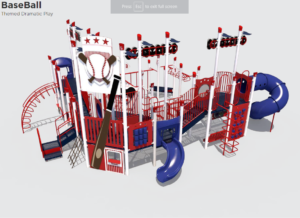 Baseball Field Themed Playground 1