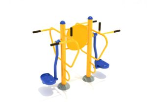 Double Station Pendulum Swing With Leg Lift 1