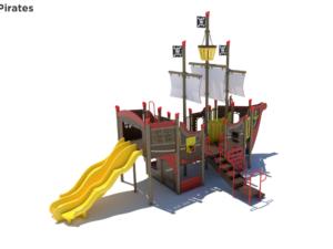 Pirate Ship Themed Playground 3 1