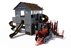 Rail Station Themed Playground 4