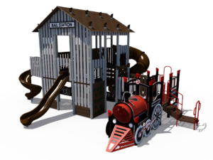 Rail Station Themed Playground 4