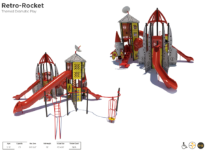 Rocket Ship Themed Playground 1
