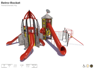 Rocket Ship Themed Playground 2