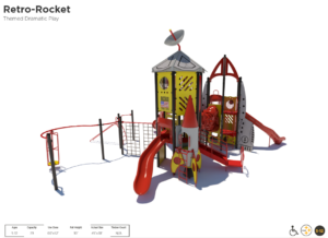 Rocket Ship Themed Playground 3