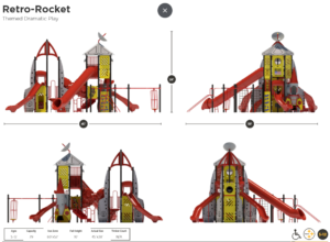 Rocket Ship Themed Playground 5