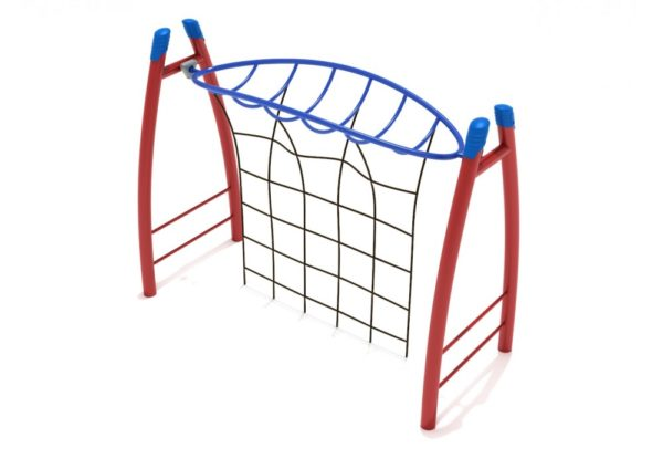 PGS006 Curved Post Overhead Inverted Horizon Climber with Rope Attachment 1000x707