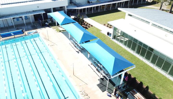 pool area bleacher shades 1