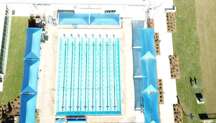 pool area bleacher shades 12