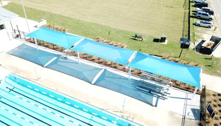 pool area bleacher shades 16
