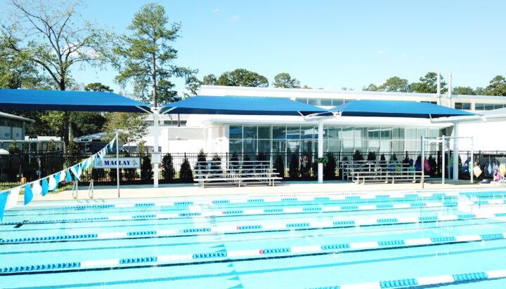 pool area bleacher shades 17