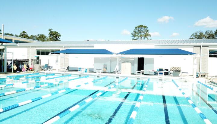 pool area bleacher shades 18