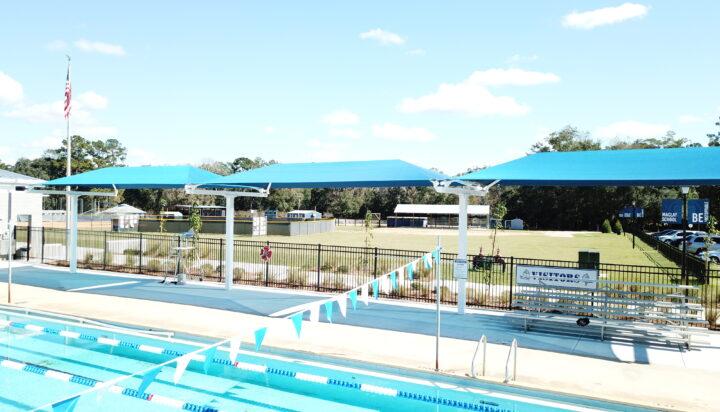 pool area bleacher shades 19