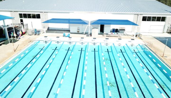 pool area bleacher shades 21