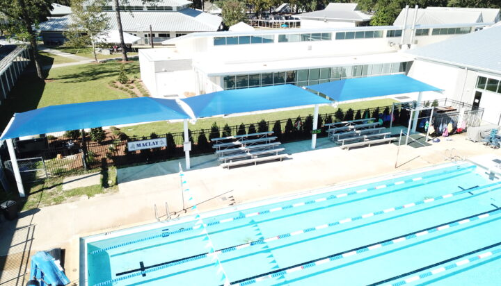 pool area bleacher shades 22