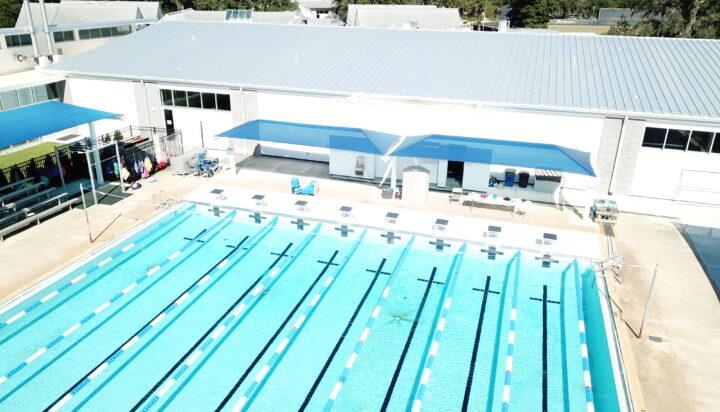 pool area bleacher shades 24