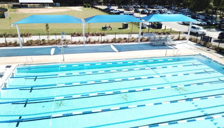 pool area bleacher shades 25