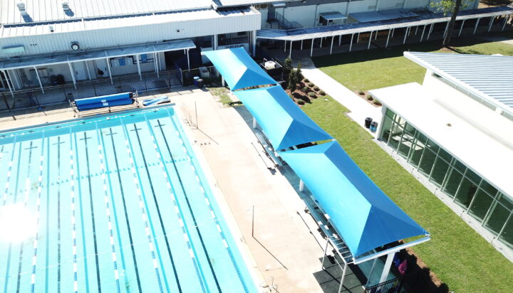 pool area bleacher shades 29