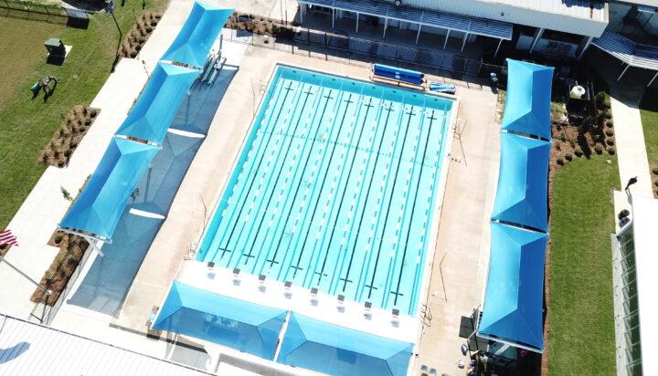 pool area bleacher shades 3
