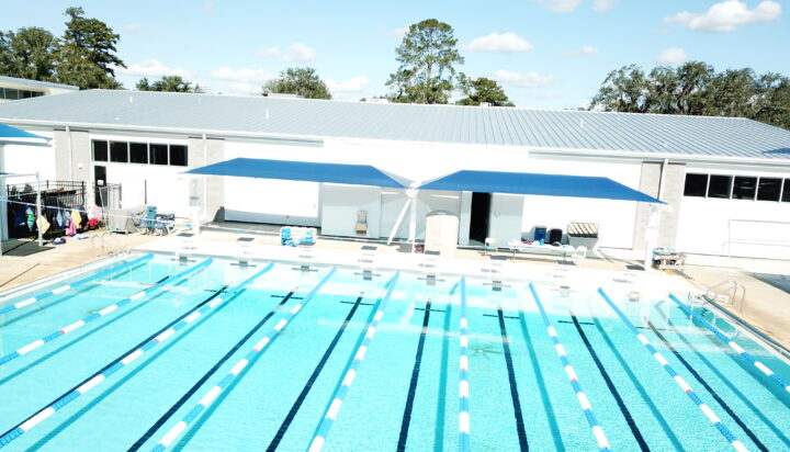 pool area bleacher shades 8