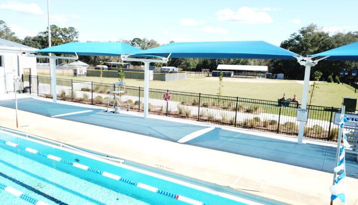 pool area bleacher shades 9