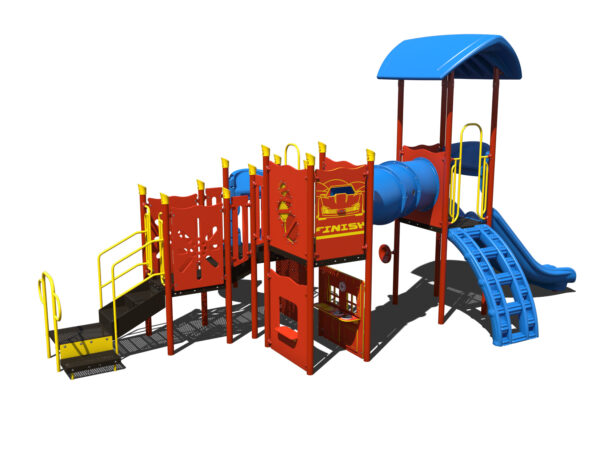 In Stock Quick Ship Commercial Playground Hats Off Playground System 4